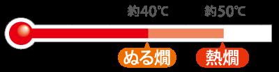 ぬる燗〜熱燗(約40〜50℃)