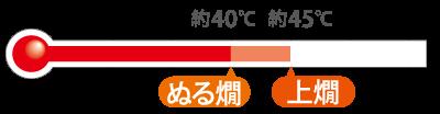 ぬる燗〜上燗(約40〜45℃)