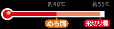 ぬる燗〜飛切り燗(約40〜55℃)